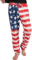 Tenworld American Flag Print Men's Casual Drawstring Pants Leggings (L, )