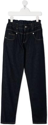 Alberta Ferretti Kids TEEN high waisted jeans
