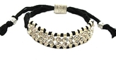 Shashi - Women's Black Two Row Silver/Crystal Bracelet