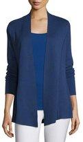 Eileen Fisher Lightweight Organic Cotton-Blend Cardigan, Sapphire