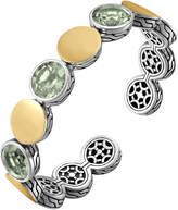 John Hardy Batu Dot Triple Green Amethyst-Station Flex Cuff, Medium