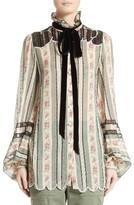 Marc Jacobs Women's Embellished Brocade Print Blouse