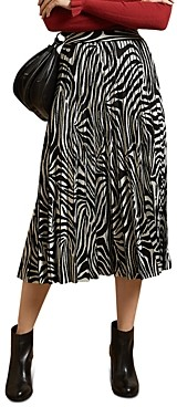 Ted Baker Viviynn Pleated Zebra Skirt