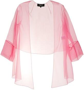 Paule Ka Asymmetric Transparent Blazer