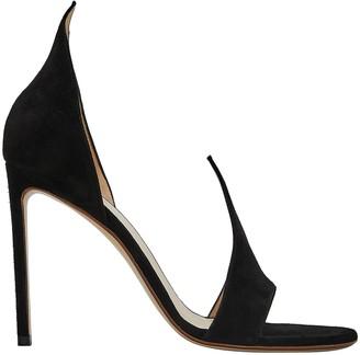 Francesco Russo Flame Suede Slide Sandals