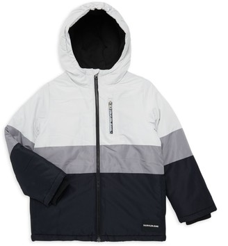 Calvin Klein Jeans Boy's Logo Utility Jacket