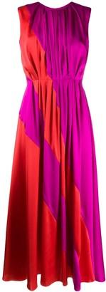 Roksanda pleated colour block dress