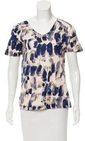 Piazza Sempione Abstract Print Short Sleeve Top