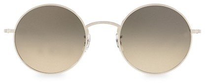 Thumbnail for your product : Oliver Peoples The Row After Midnight 49MM Round Sunglasses