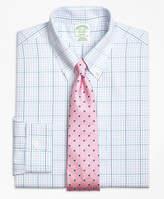 Brooks Brothers Non-Iron Madison Fit Alternating Overcheck Dress Shirt