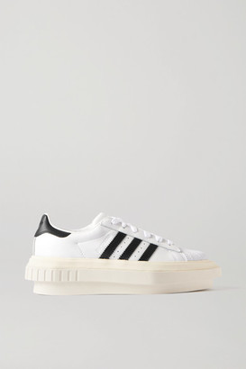 adidas Beyonce Superstar Leather Platform Sneakers - White