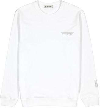 Givenchy White logo cotton sweatshirt