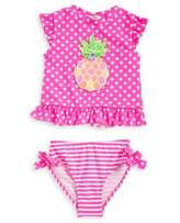 Flapdoodles Little Girl's Two-Piece Pineapple Swimsuit Set