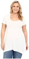 Christin Michaels Plus Size Joselyn Short Sleeve Top