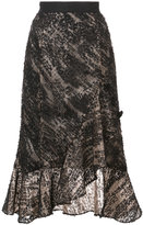 Prabal Gurung embroidered wrap style skirt