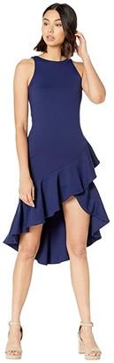 Susana Monaco Ruffle Sleeveless Dress (Deep Sea) Women's Clothing