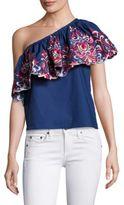 Parker Reba One-Shoulder Cotton Top