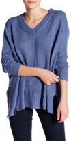 Romeo & Juliet Couture Asymmetrical V-Neck Sweater