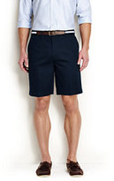 "Classic Men's No Iron 9"" Plain Front Comfort Waist Chino Shorts-Light Stone"