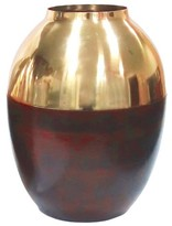 Threshold Gold and Wood Vase Small