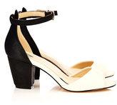 Wallis Black And Cream Ankle Cuff Sandal