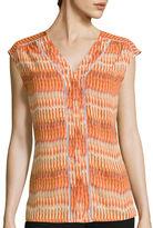 WORTHINGTON Worthington Sleeveless Button-Down Shirt - Tall