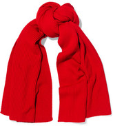 Lemaire Ribbed Wool Scarf - Red