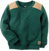 Carter's Quilted Shoulder-Patch Sweatshirt, Toddler Boys (2T-4T)