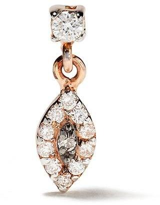 Kismet by Milka 14kt Rose Gold Evil Eye Diamond Drop Stud