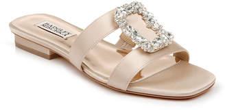 Badgley Mischka Josette Flat Satin Slide Sandals