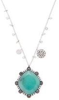 Meira T Emerald Black Diamond Necklace