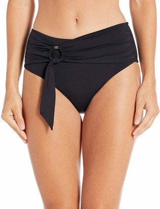 Seafolly Women's Wide Side Bikini Bottom Swimsuit with Sash Belt