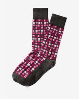 Express geo square print dress socks