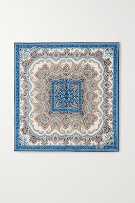 Purdey - Printed Silk-twill Scarf - Blue