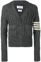 Thom Browne 4-bar Aran Cable Cashmere Cardigan