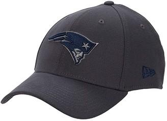 New Era NFL Stretch Fit Graphite 3930 -- New England Patriots (Graphite) Baseball Caps