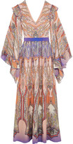 Etro Ruffled Printed Silk-georgette Gown - Blush