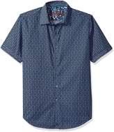 Robert Graham Men's Gardena S/s Classic Fit Woven Shirt