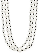 Kenneth Jay Lane WOMEN'S TRIPLE-STRAND NECKLACE-WHITE