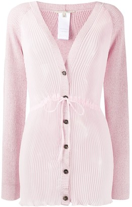 Marco De Vincenzo Ribbed Button-Up Cardigan