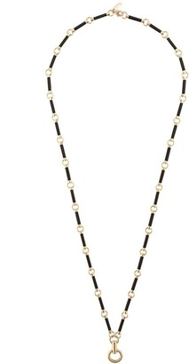 Foundrae 18kt yellow gold Onyx Element Link Chain necklace