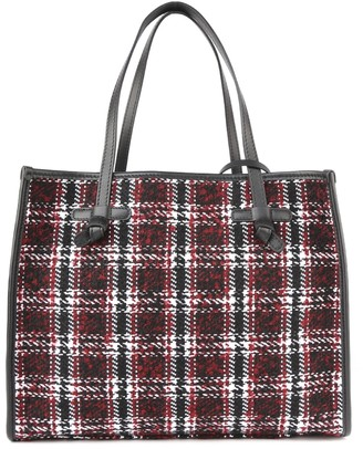 Gianni Chiarini Marcella Tote Bag In Fabric With Leather Piping