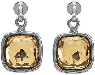 Michael Aram Enchanted Forest Silver 0.11 Ct. Tw. Diamond & Gold Crystal Doublet Earrings