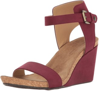 Adrienne Vittadini Footwear Women's Ted Footbed Wedge Sandal