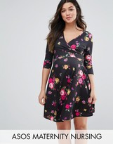 ASOS Maternity - Nursing ASOS Maternity NURSING Wrap Dress in Small Floral