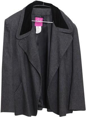 Christian Lacroix Grey Wool Jacket for Women Vintage