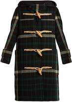 Burberry Salhouse hooded tartan wool coat