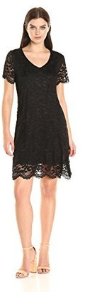 Tiana B T I A N A B. Women's Shortsleeve V-Neck Lace Trapeze Dress