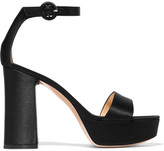 Gianvito Rossi Satin Platform Sandals - Black