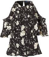 Polo Ralph Lauren Cutout-Shoulder Silk Blouse